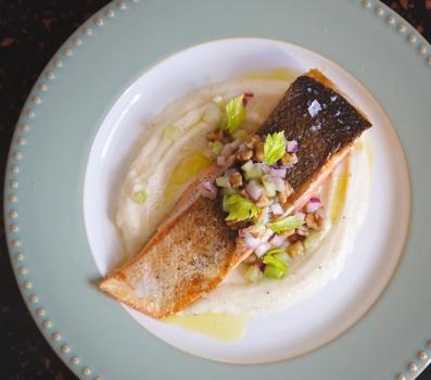 Cinder Grill Crispy Salmon Recipe